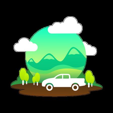 Off road travel Illustration