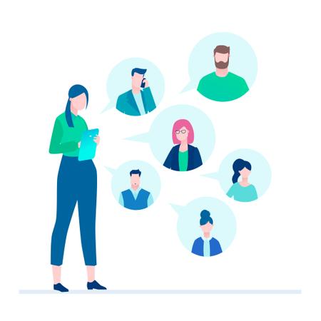 Office Chat Illustration