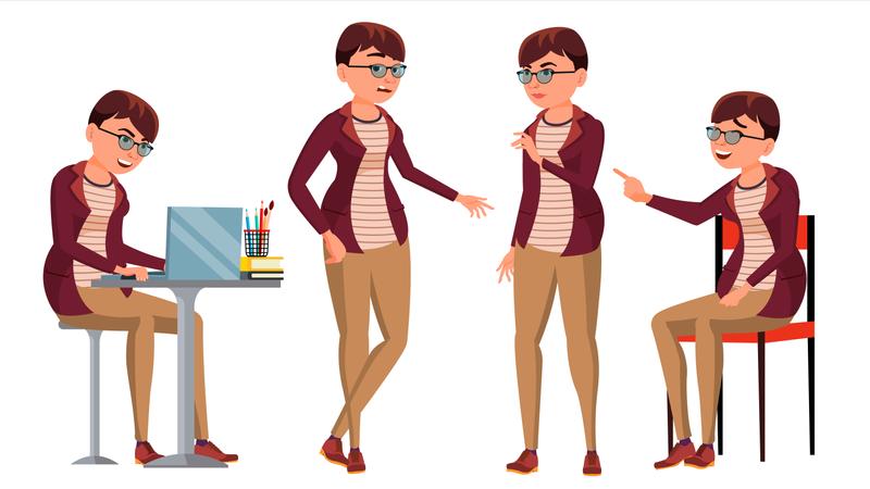 Office Employee Illustration
