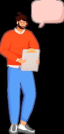 Office employer Illustration
