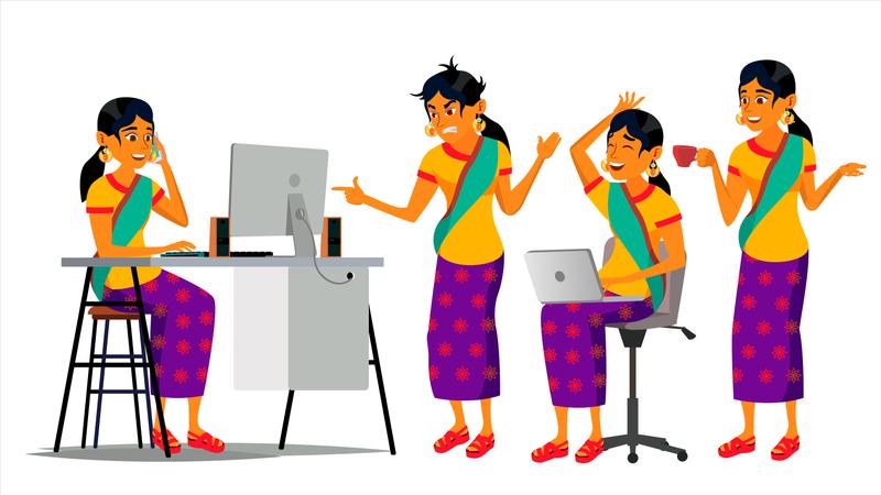 Office Environment Illustration