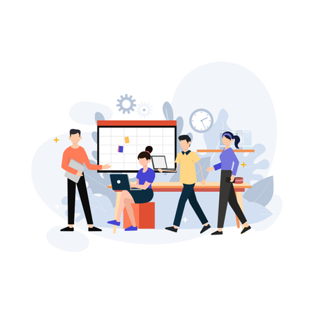 Office environment concept Illustration