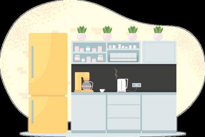 Office kitchen Illustration
