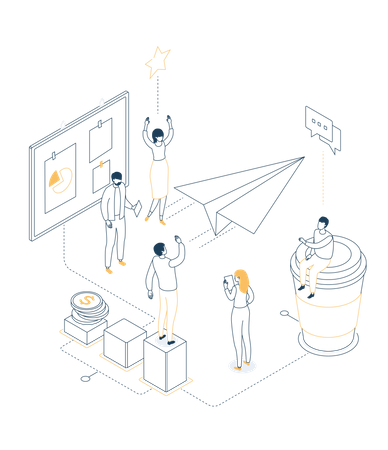 Office life Illustration