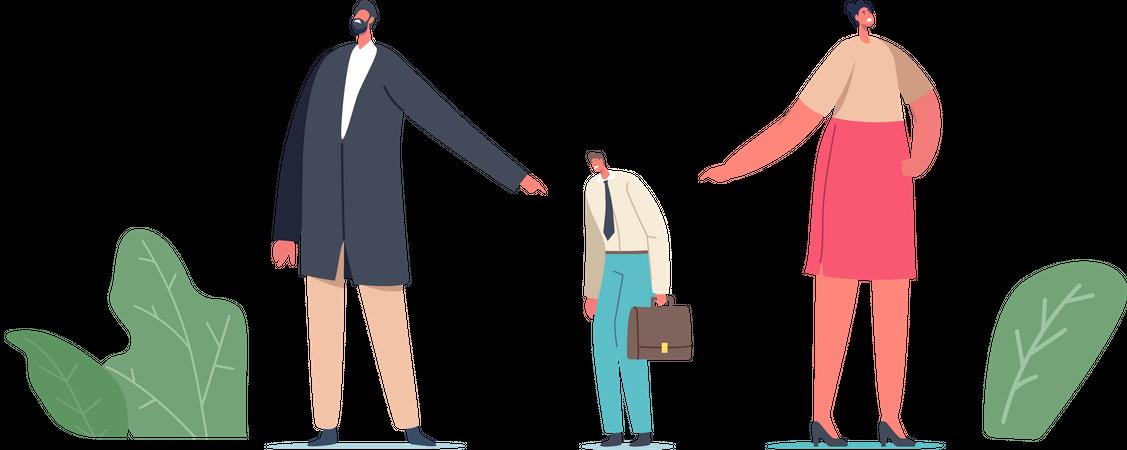 Office Life Situation Illustration