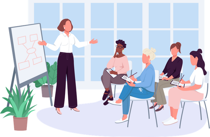 Office meeting Illustration