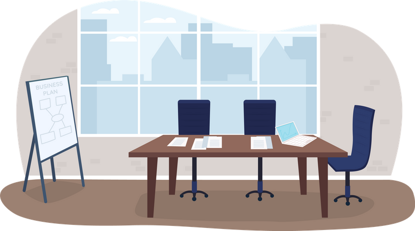 Office meeting room Illustration