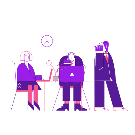 Office People working together Illustration