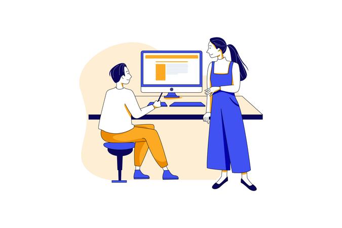 Office relationship Illustration