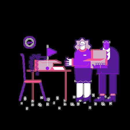 Office setup Illustration