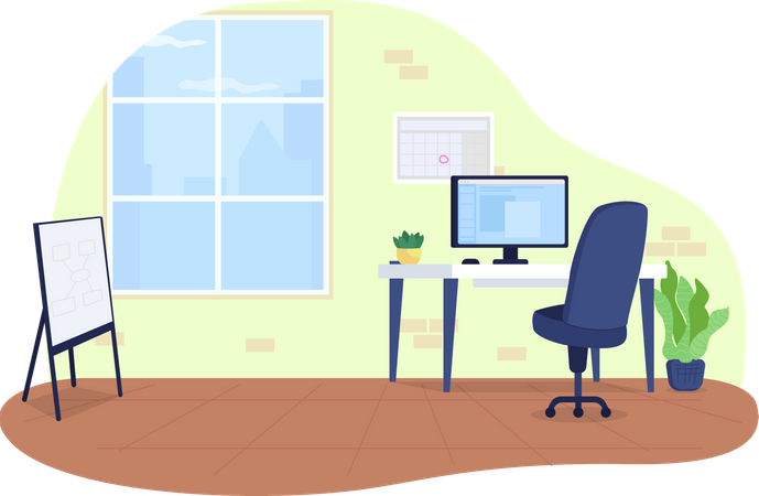 Office space Illustration