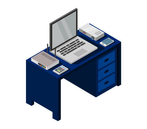 Office table Illustration