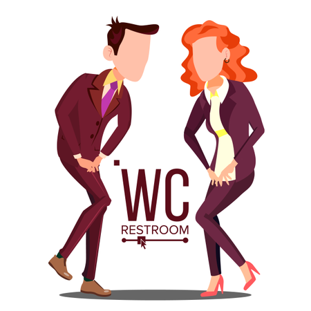 Office WC Sign Vector