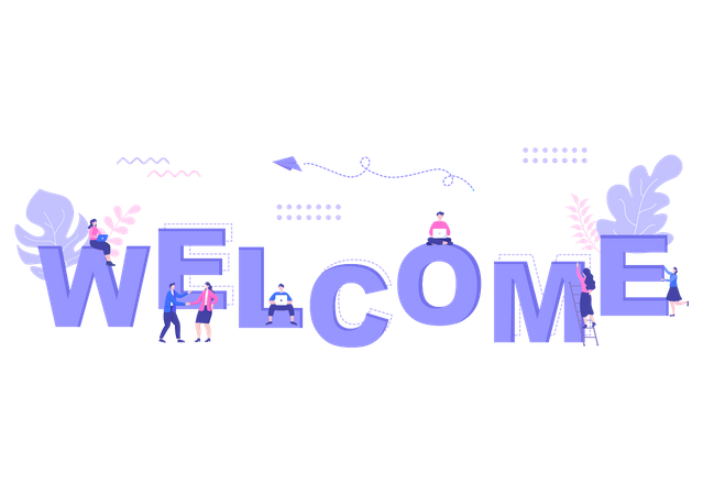 Office Welcome Illustration