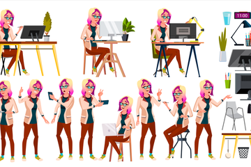Office Worker Vector Stock Images