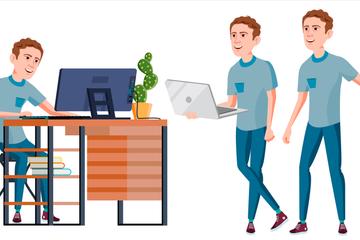 Office Worker Illustration Pack