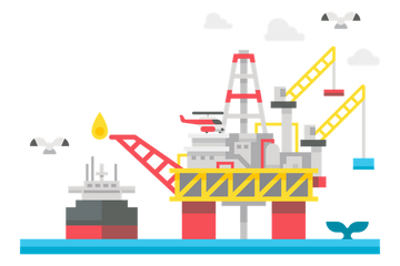 Oil Rig Illustration Pack