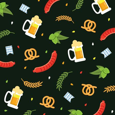 Oktober fest pattern Illustration