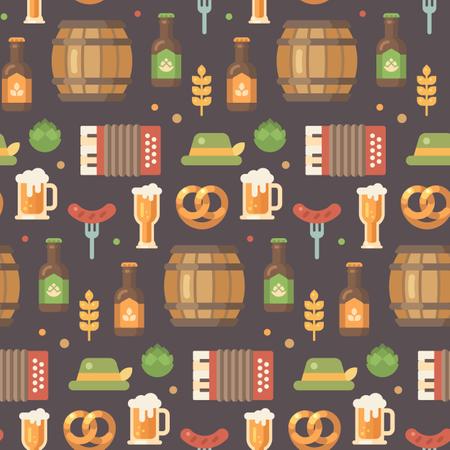 Oktoberfest pattern Illustration