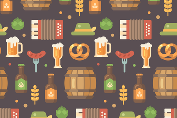 Oktoberfest Pattern Illustration Pack