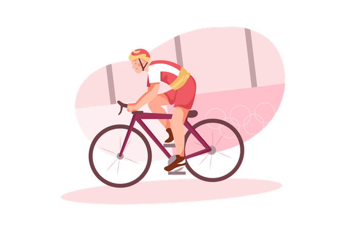 Olympic Cycling race Illustration