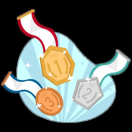 Olympic medal Illustration