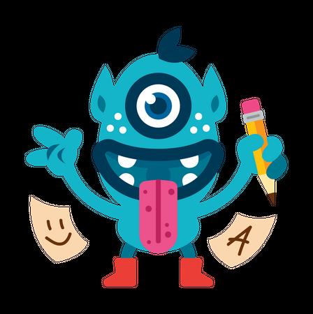 One eyed monster Illustration