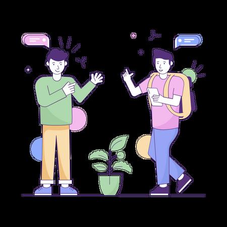 Online academic discussion Illustration
