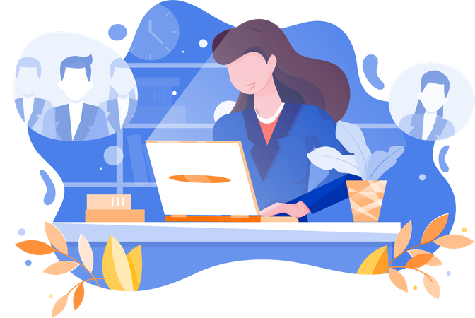 Online advertisement for employment Illustration