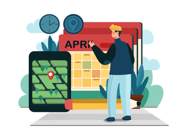 Online Agriculture Appointment Illustration