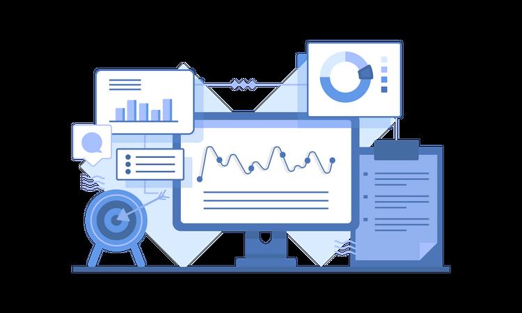 Online analysis Illustration