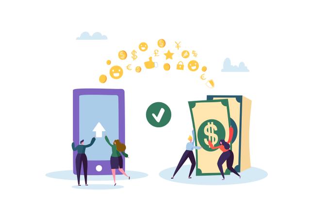 Online Banking Concept Illustration