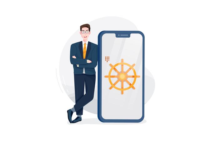 Online business Illustration