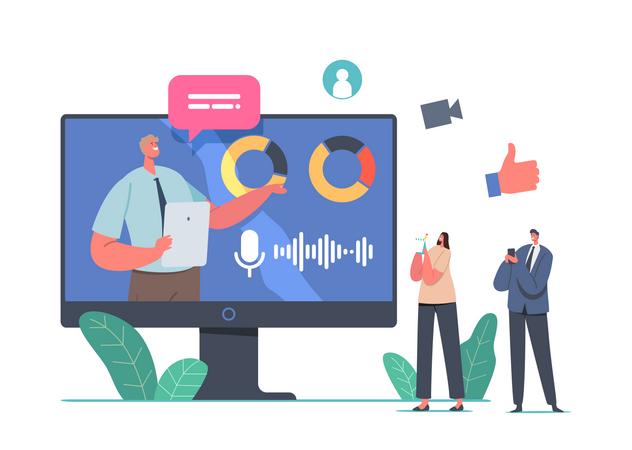 Online Business Presentation Illustration