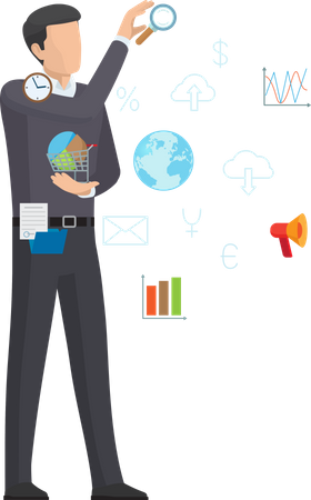 Online Business Working People Illustration