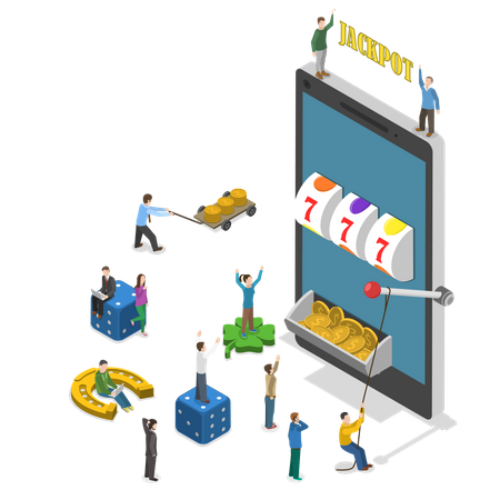 Online casino application Illustration