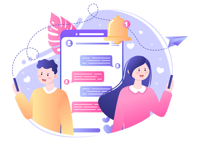 Online chatting Illustration