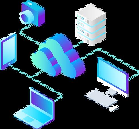 Online Computing Storage Illustration