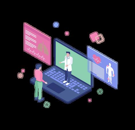 Online consultation Illustration