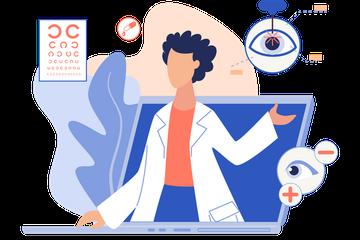 Eye Checkup Illustration Pack