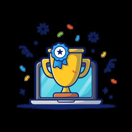 Online course achievement Illustration