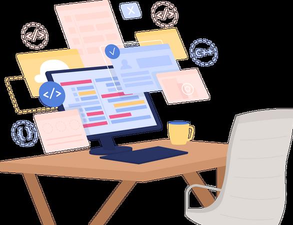 Online course for developers Illustration