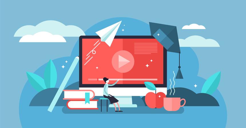 Online courses Illustration