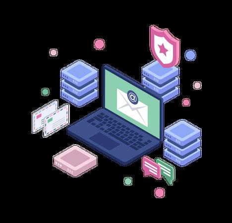 Online data security Illustration