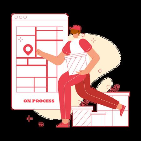 Online delivery Illustration
