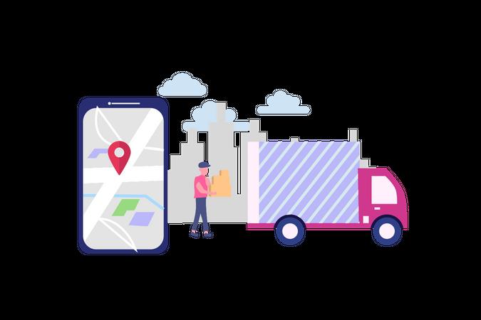 Online delivery service Illustration