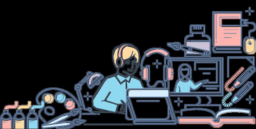 Online design course Illustration