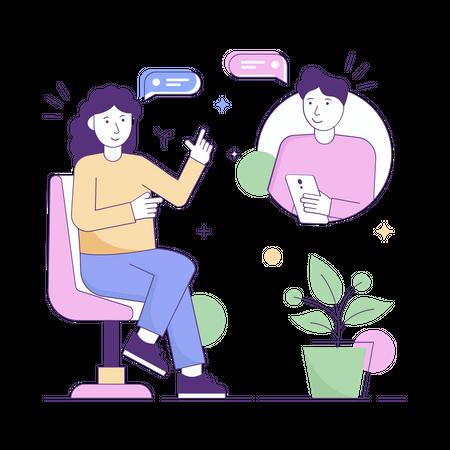 Online discussion Illustration