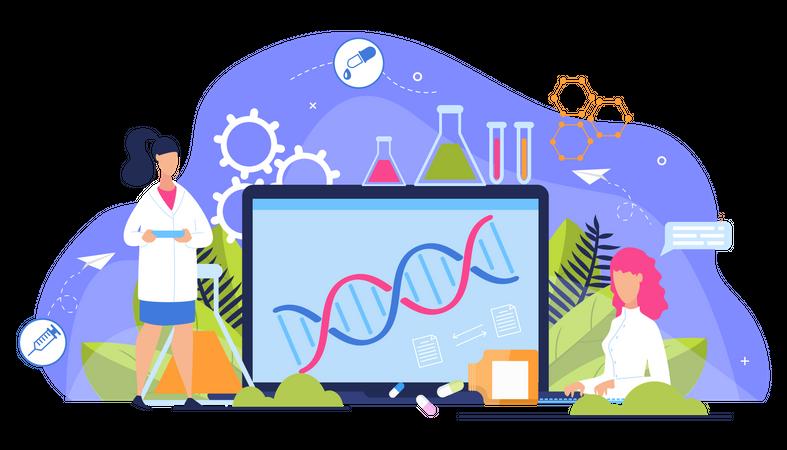 Online DNA Structure Illustration