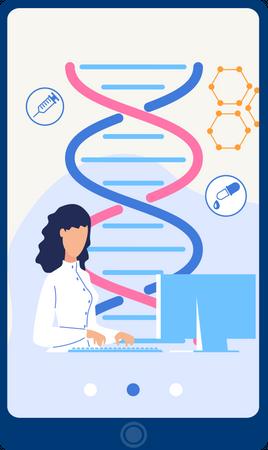 Online DNA Structure Management Illustration